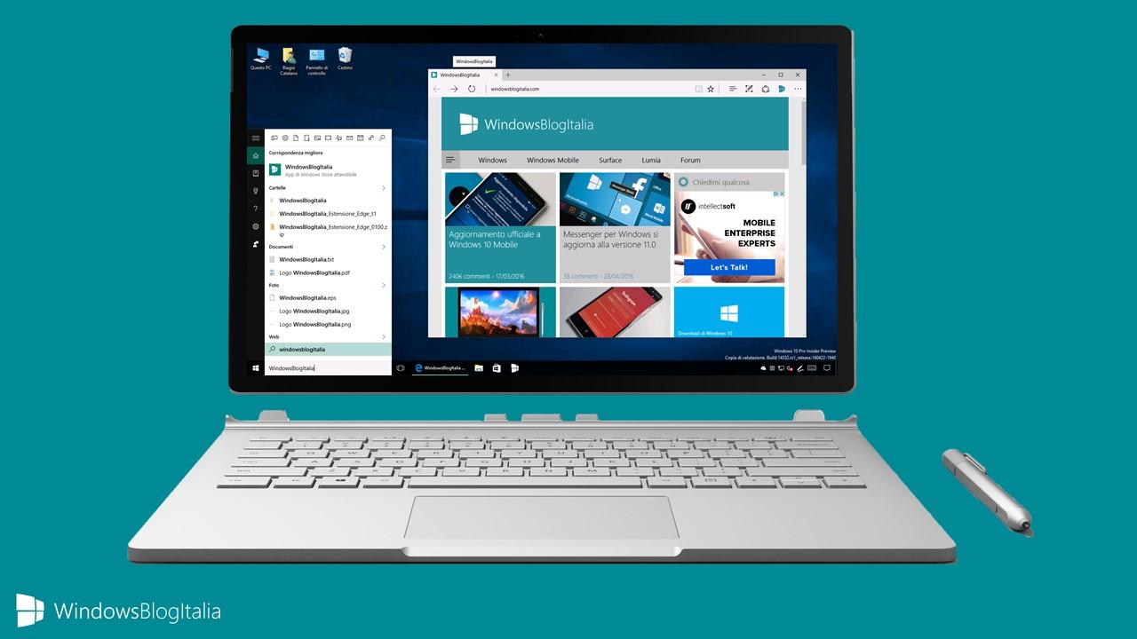 Addio alla ricerca di Google con Cortana