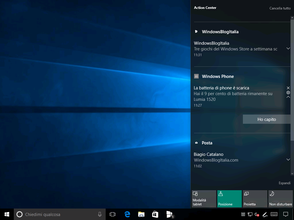 Batteria scarica - Windows 10 e Windows 10 Mobile (2)