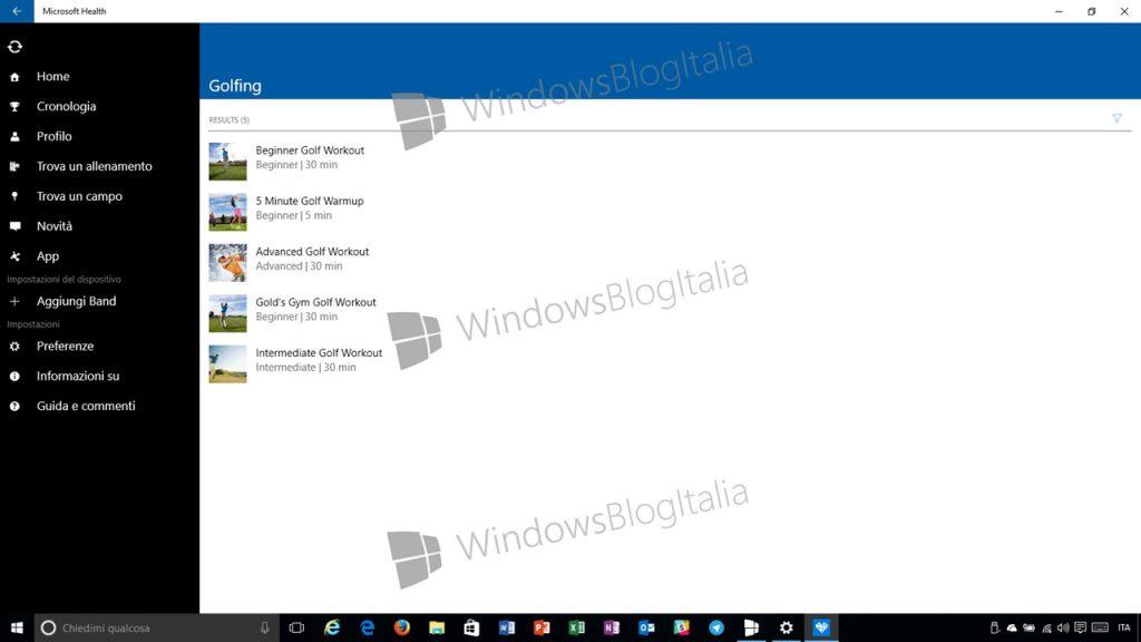 Esclusiva! Anteprima di Microsoft Health per Windows 10