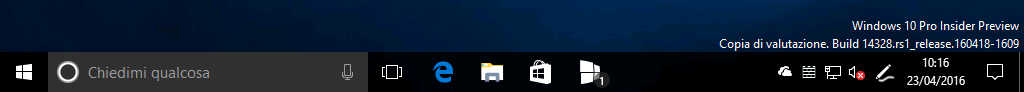 Notifiche tile taskbar