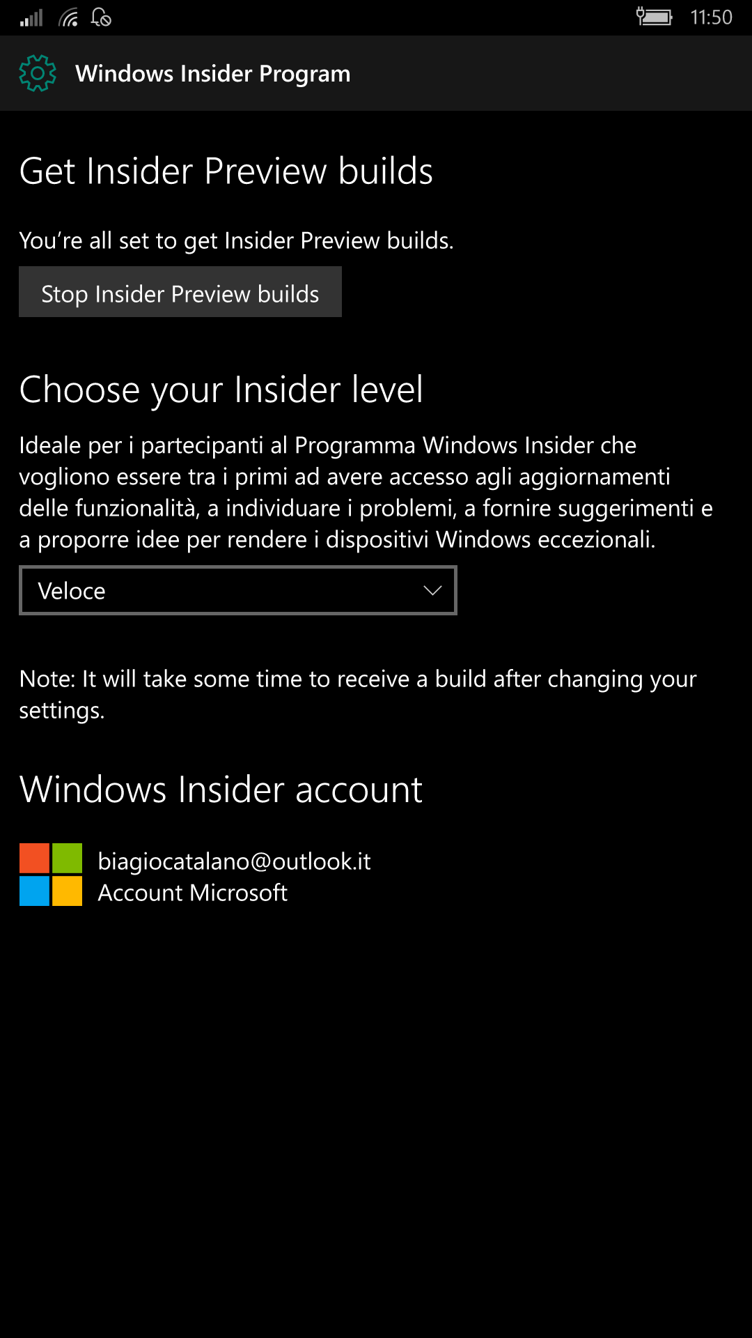Programma Windows Insider - Windows 10 Mobile 14332.1001
