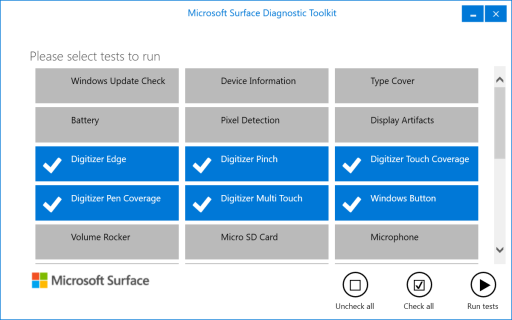 Surface Diagnostic Toolkit 2