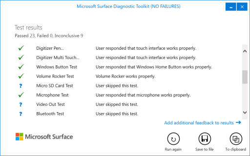 Surface Diagnostic Toolkit 3
