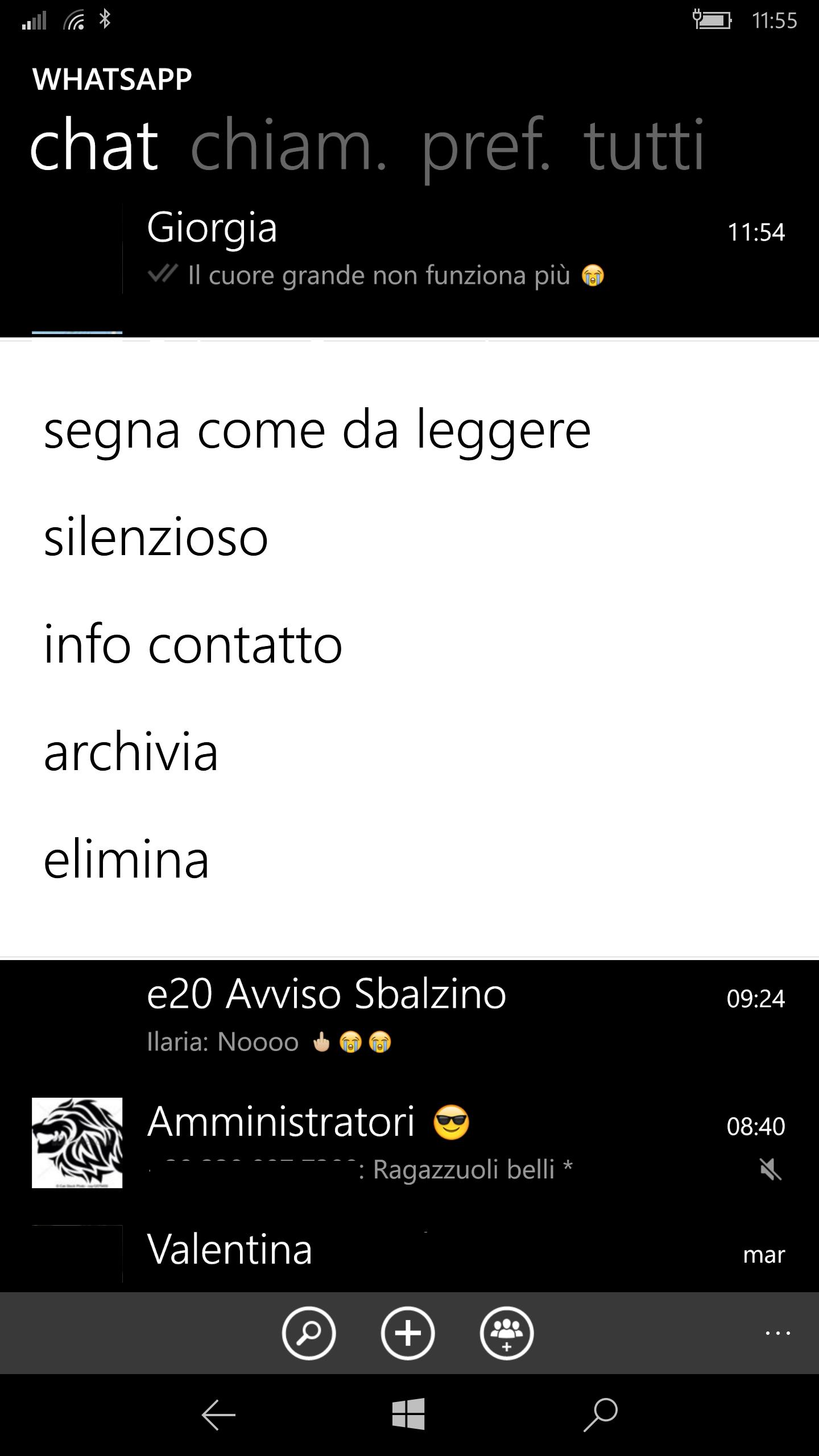 WhatsApp Beta - Modalita silenzioso