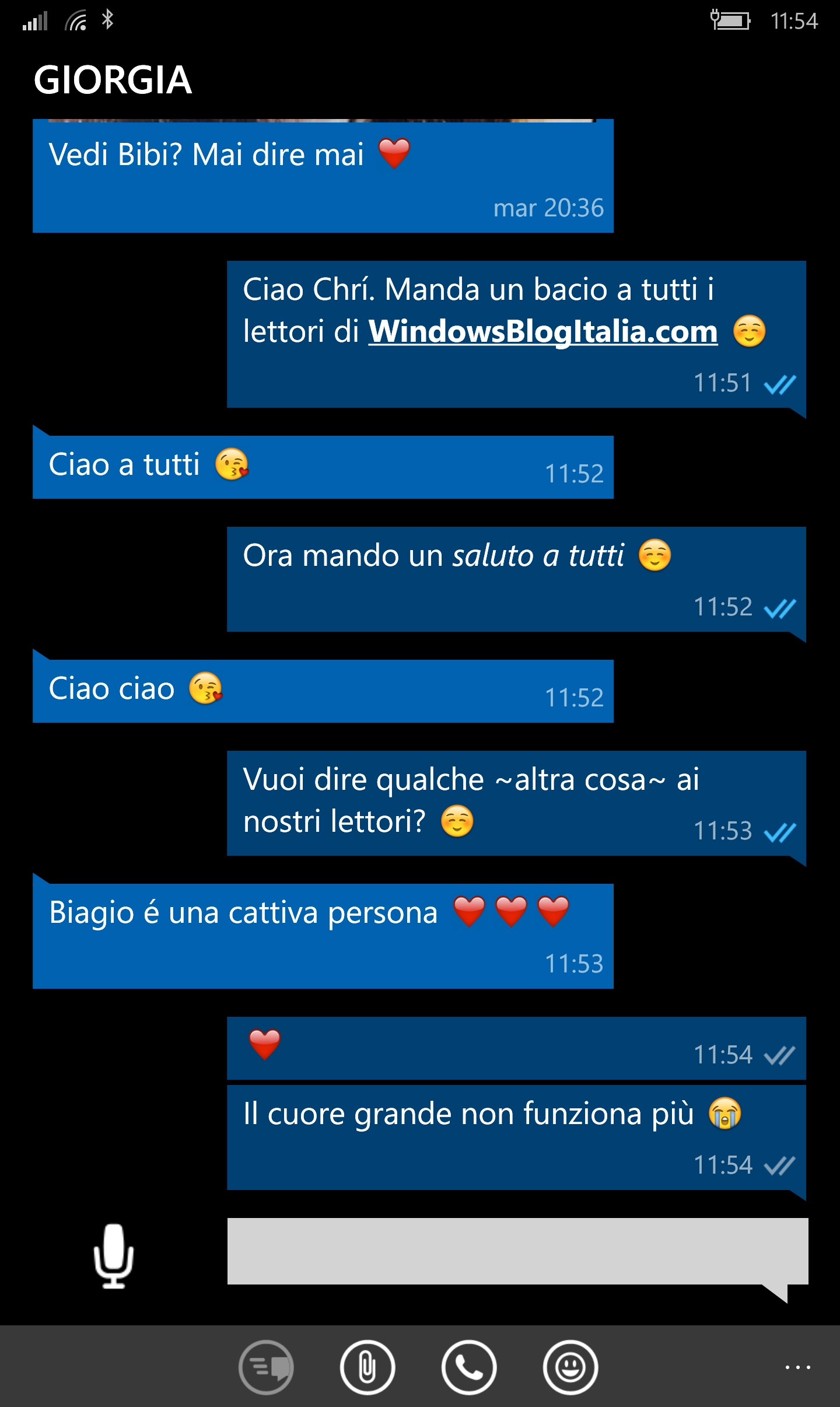 WhatsApp beta - corsivo e grassetto