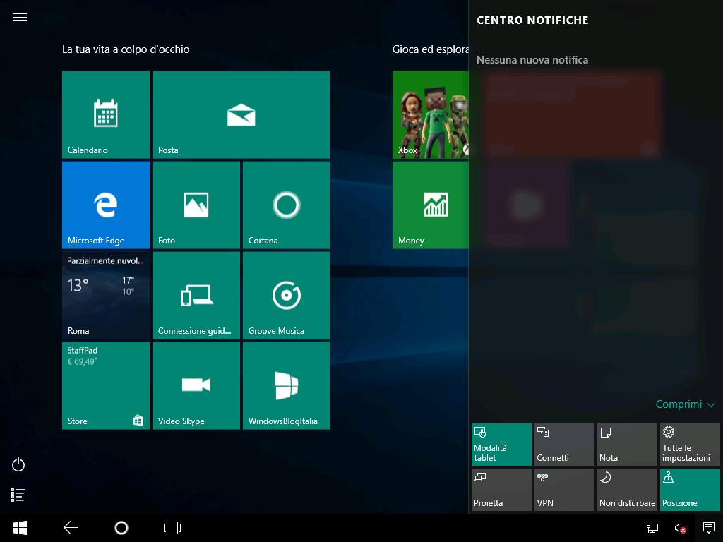 modalita tablet