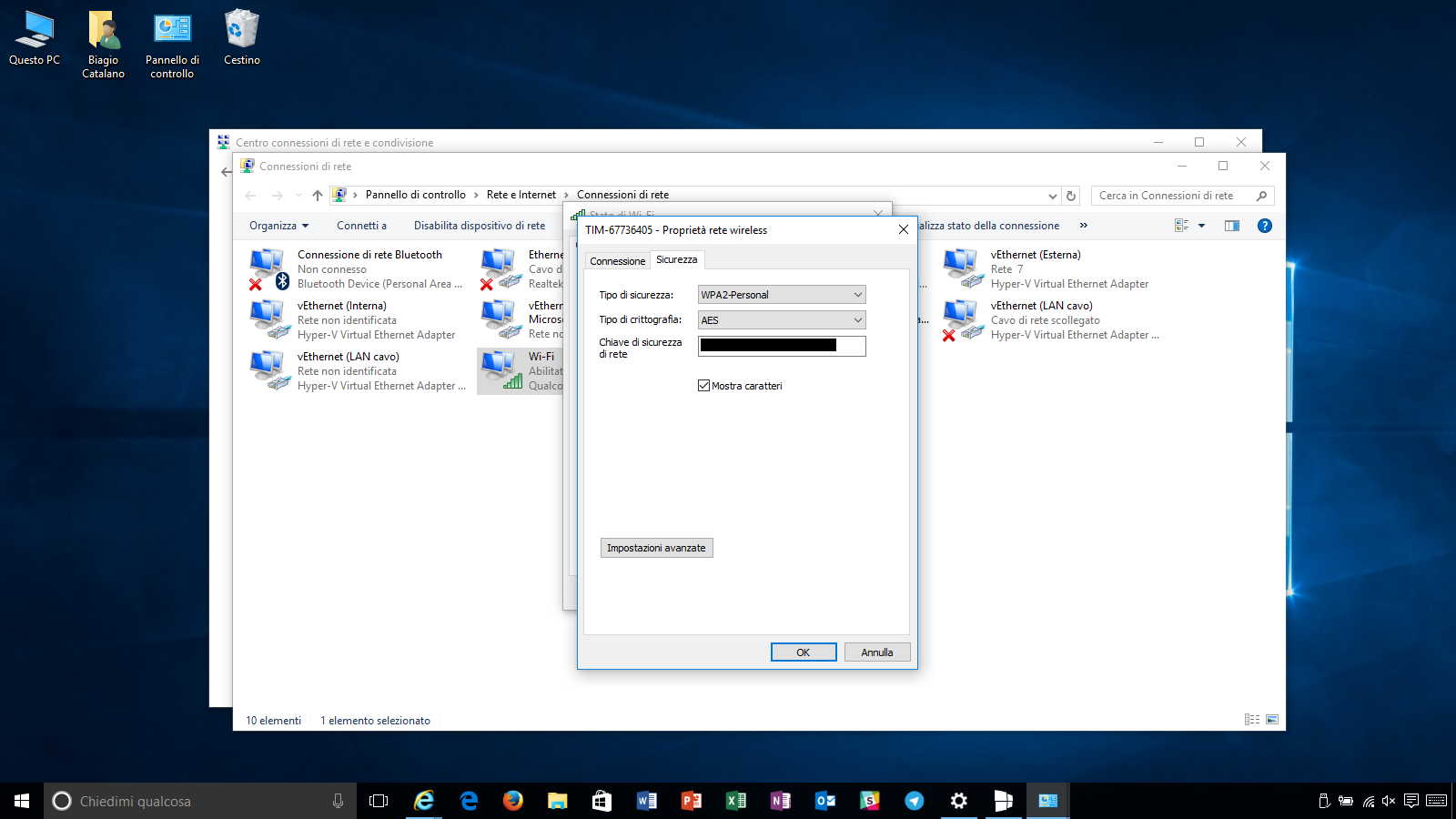 password Wi-Fi Windows 10