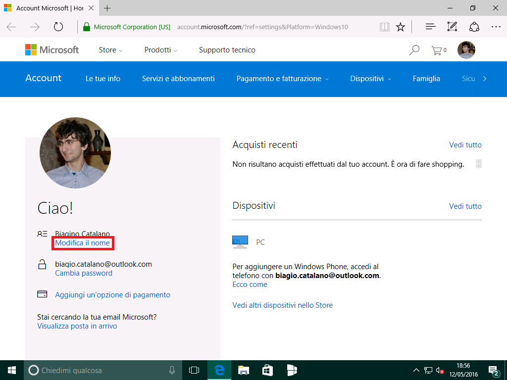 Account Microsoft - Windows 10 - (2)