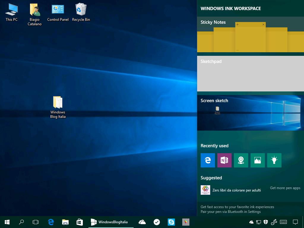 App suggerite Windows Ink