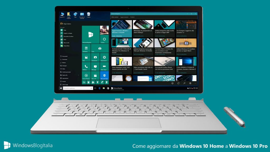 Da Windows 10 Home a Windows 10 Pro