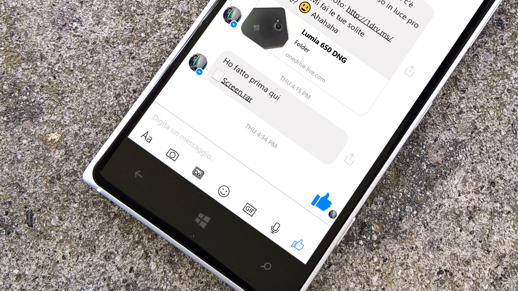 Facebook Messenger Windows 10 Mobile