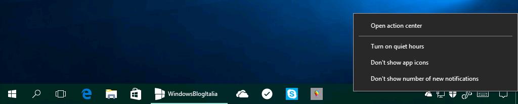 Icone app nel centro notifiche bis