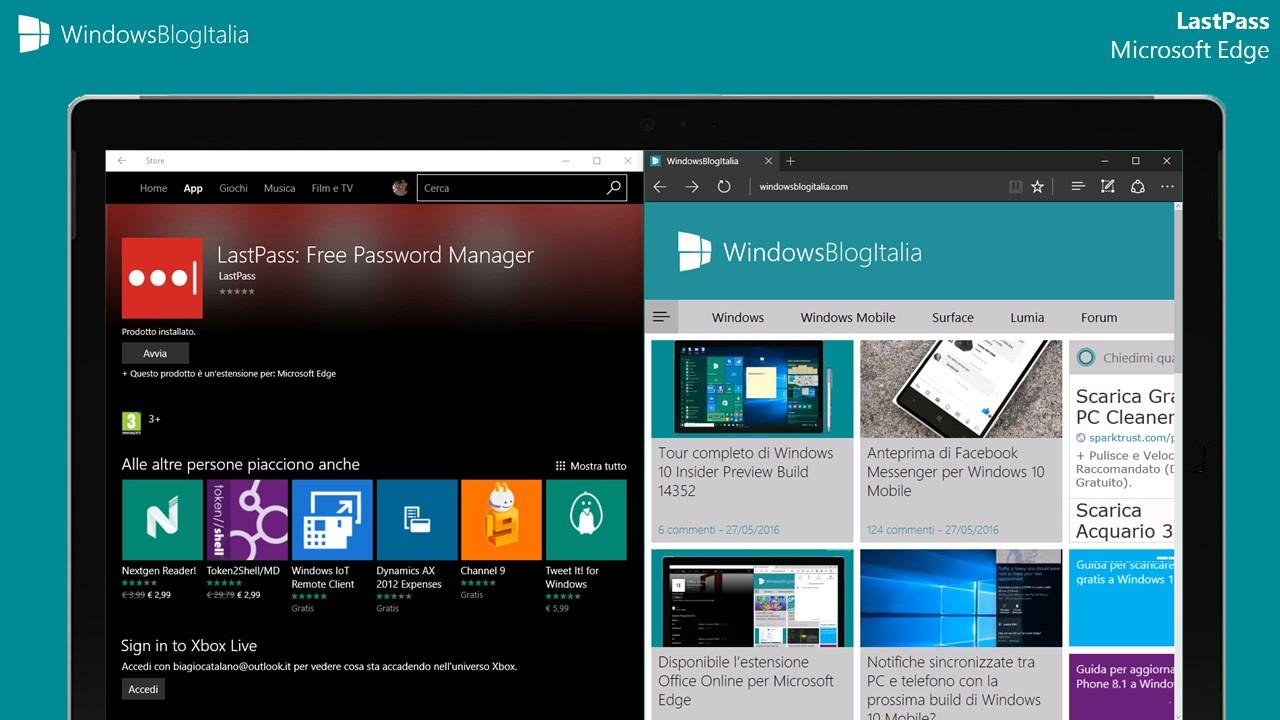 LastPass per Microsoft Edge