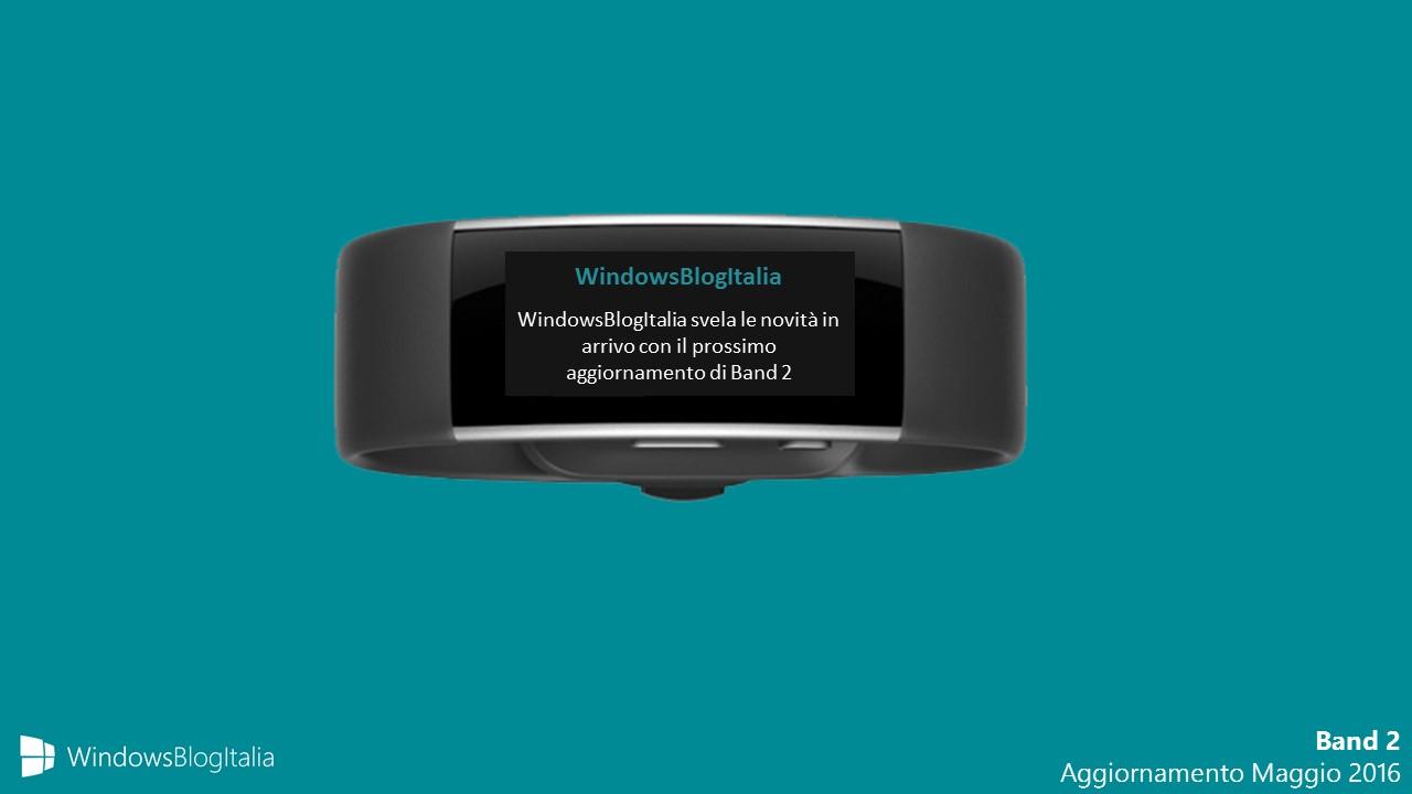 Microsoft Band 2 - Aggiornamento Maggio 2016