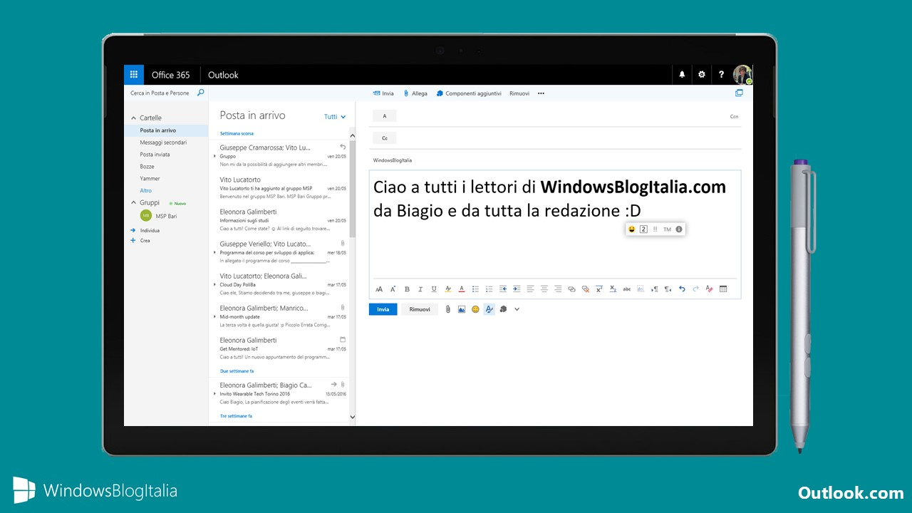 Nuova interfaccia Outlook.com
