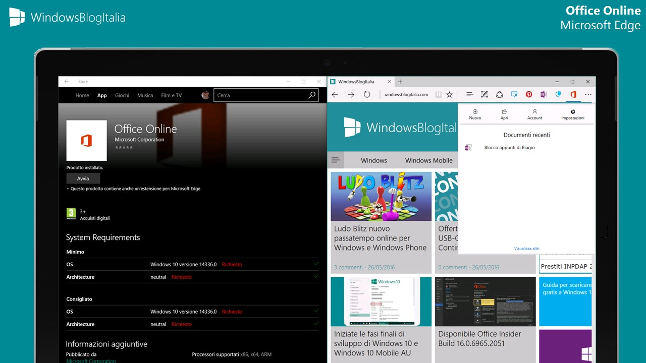Office Online per Microsoft Edge