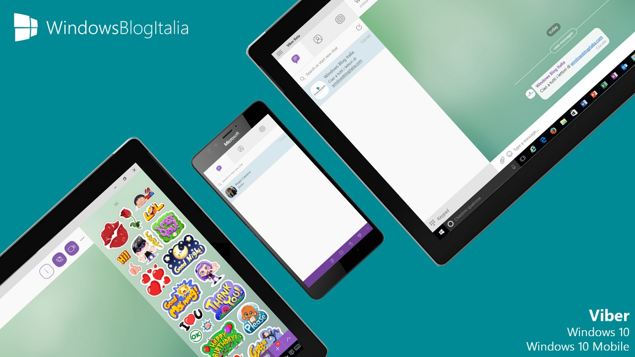 Viber - tablet e smartphone Windows 10