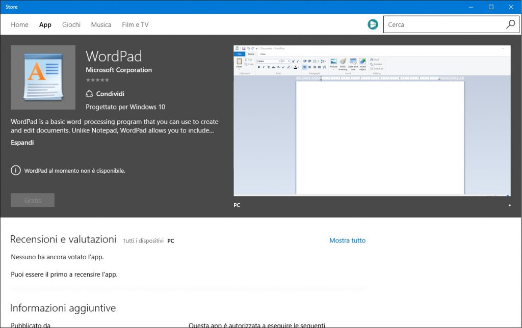 wordpad-windows-store