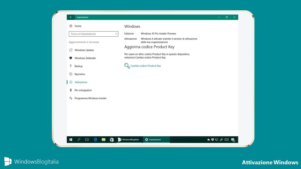 Attivazione Windows
