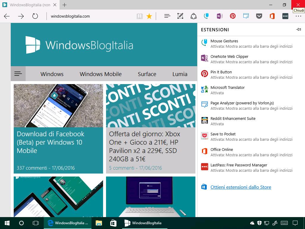 Estensioni non firmate - Microsoft Edge - (1)