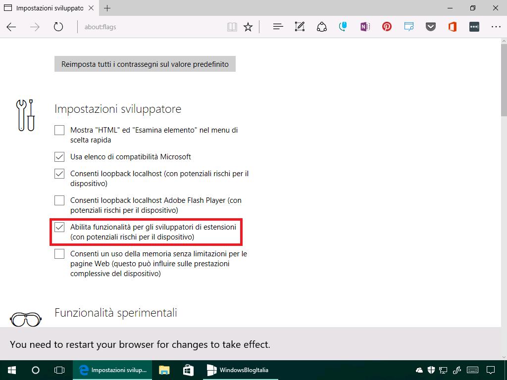 Estensioni non firmate - Microsoft Edge - (2)