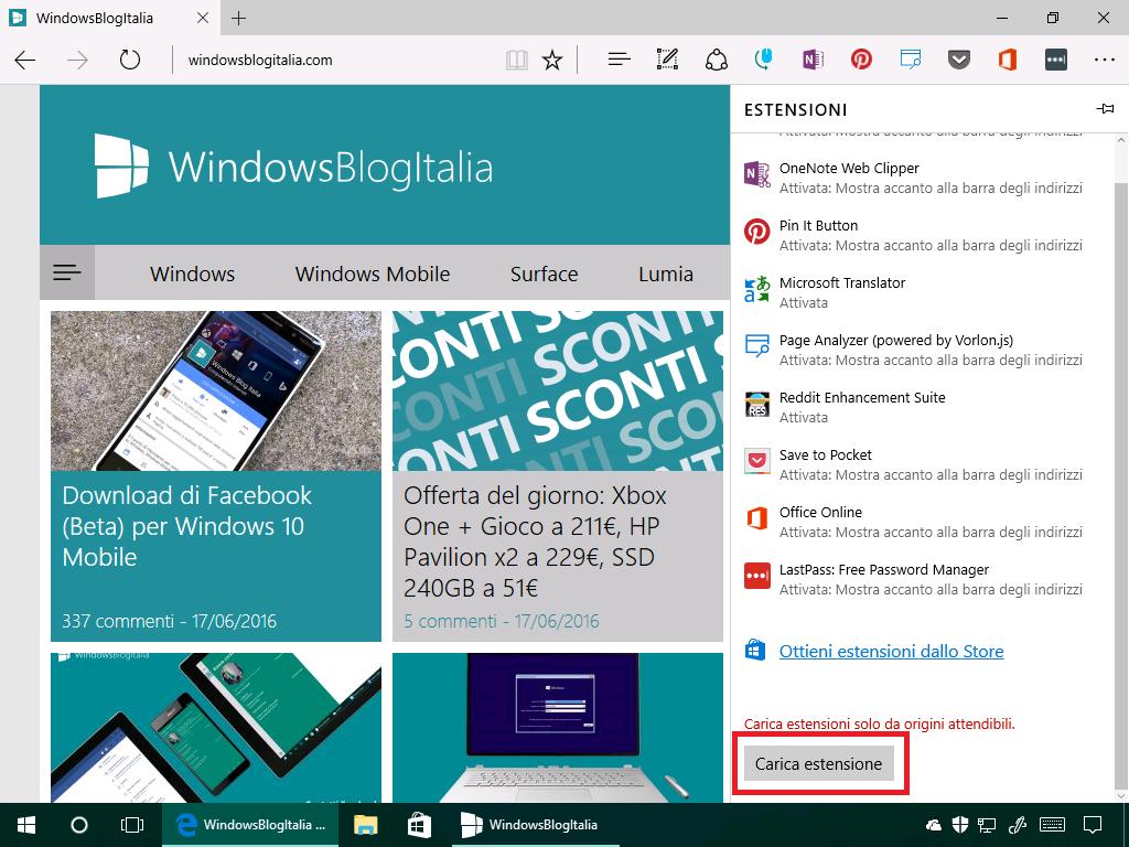 Estensioni non firmate - Microsoft Edge - (3)