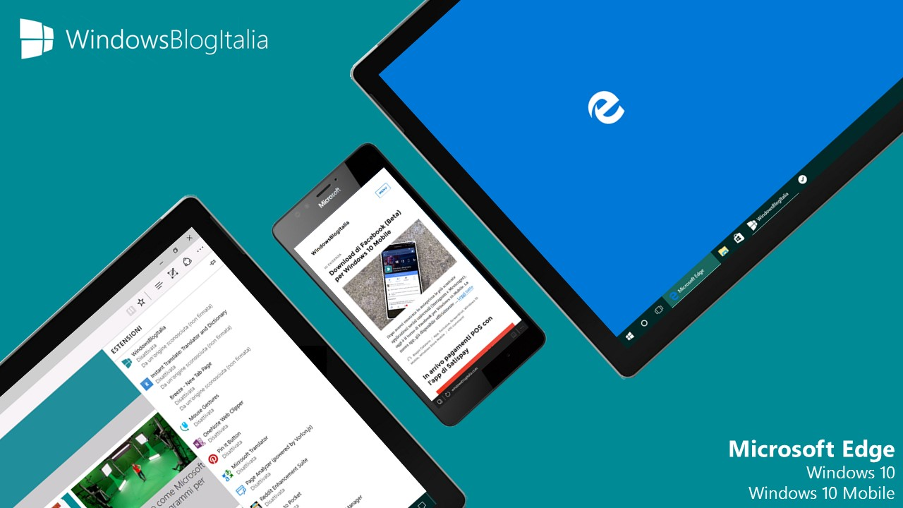 Microsoft Edge - Windows 10 e Windows 10 Mobile