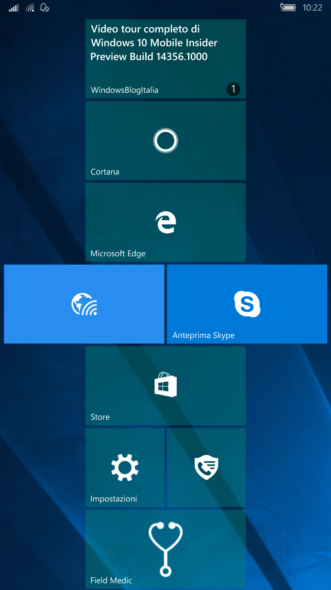 Nuovo wallpaper - Windows 10 Mobile