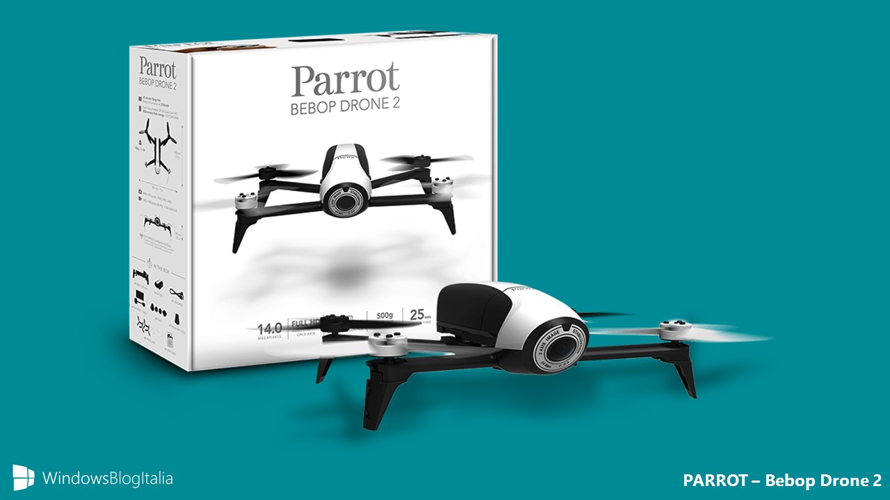 recensione parrot bebop drone 2 windowsblogitalia. Black Bedroom Furniture Sets. Home Design Ideas