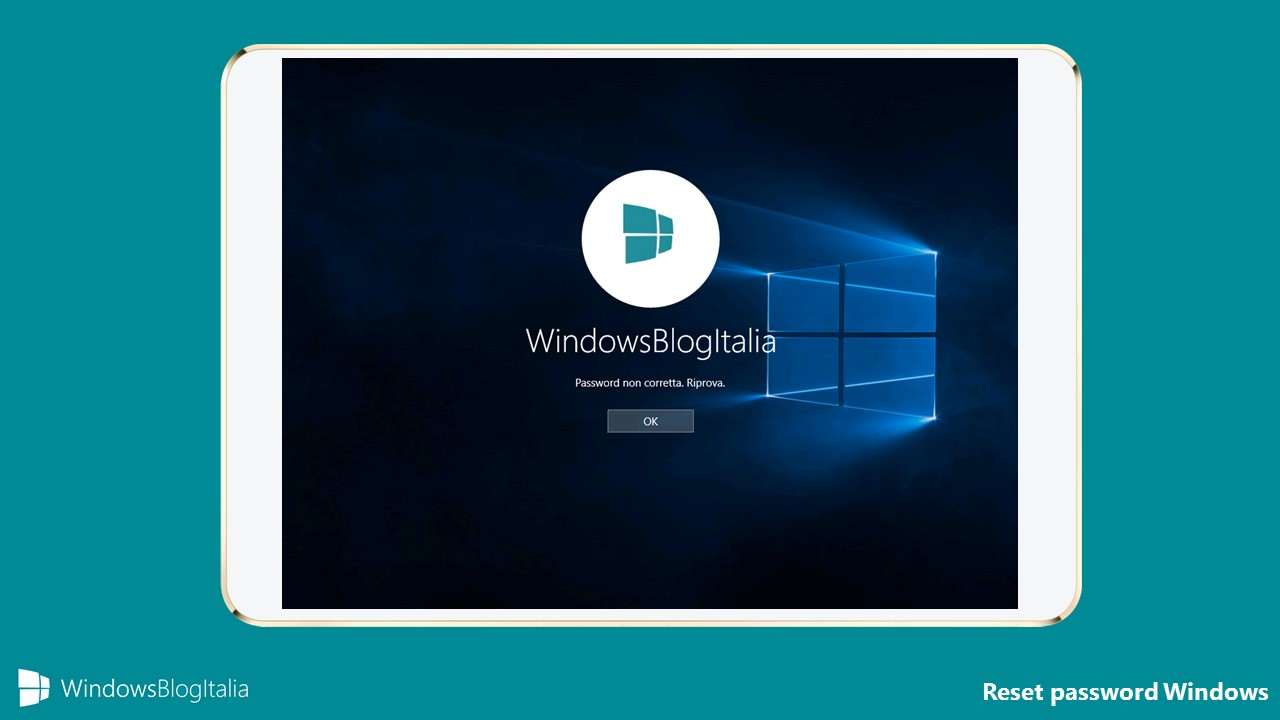 Reset password di Windows