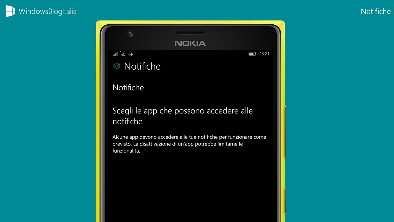 Windows 10 Mobile - Notifiche