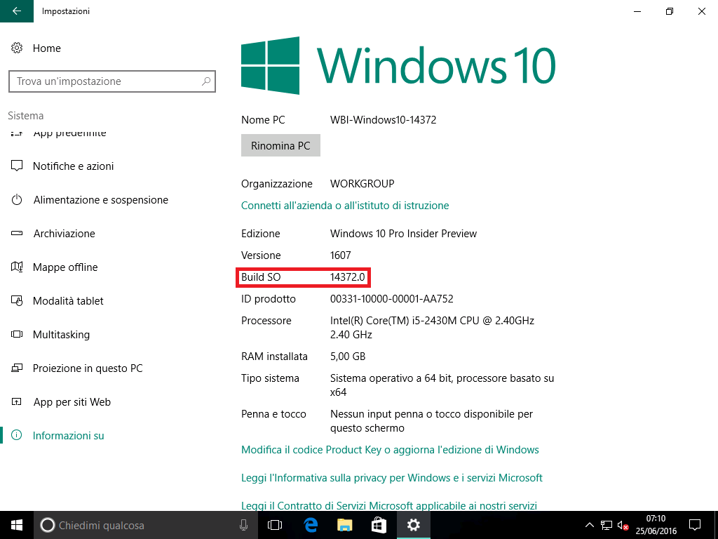 build so - windows 10 14372