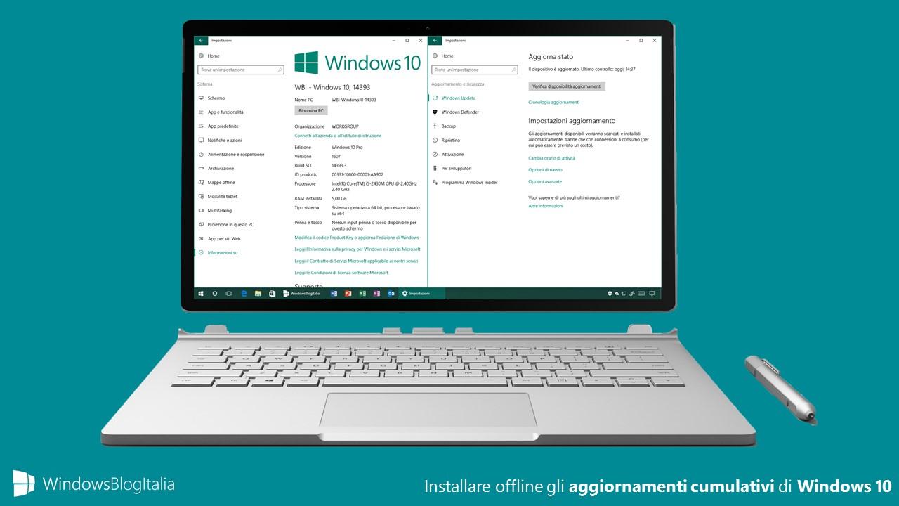 Come installare gli aggiornamenti cumulativi di Windows 10 offline