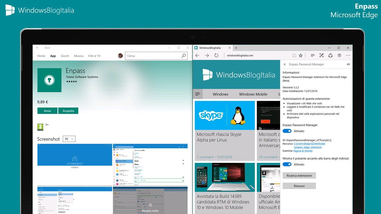 Enpass per Microsoft Edge