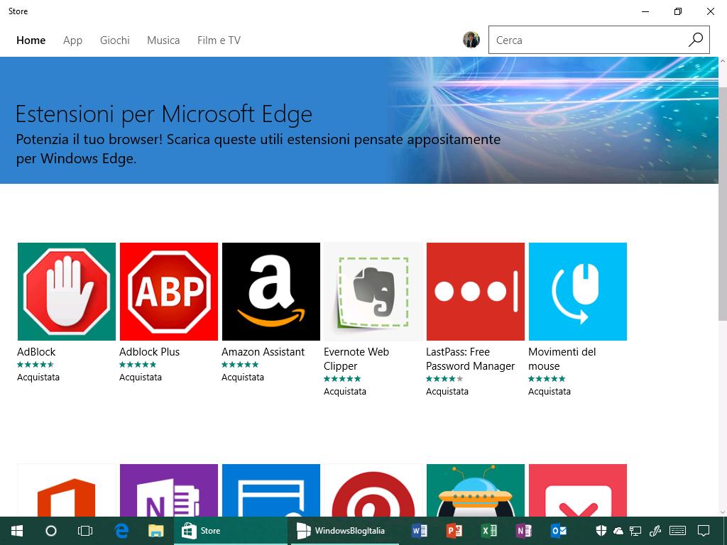 Estensioni per Microsoft Edge - Windows Store