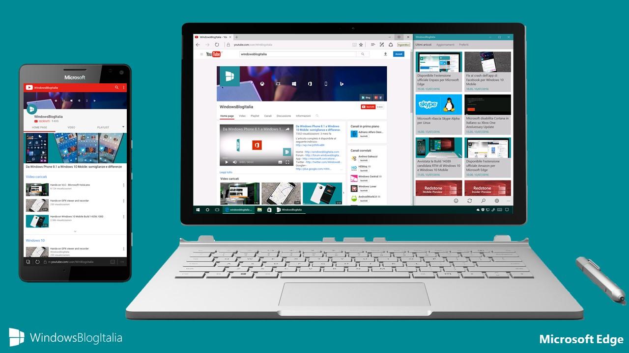 Microsoft Edge - Miglior browser per la riproduzione video