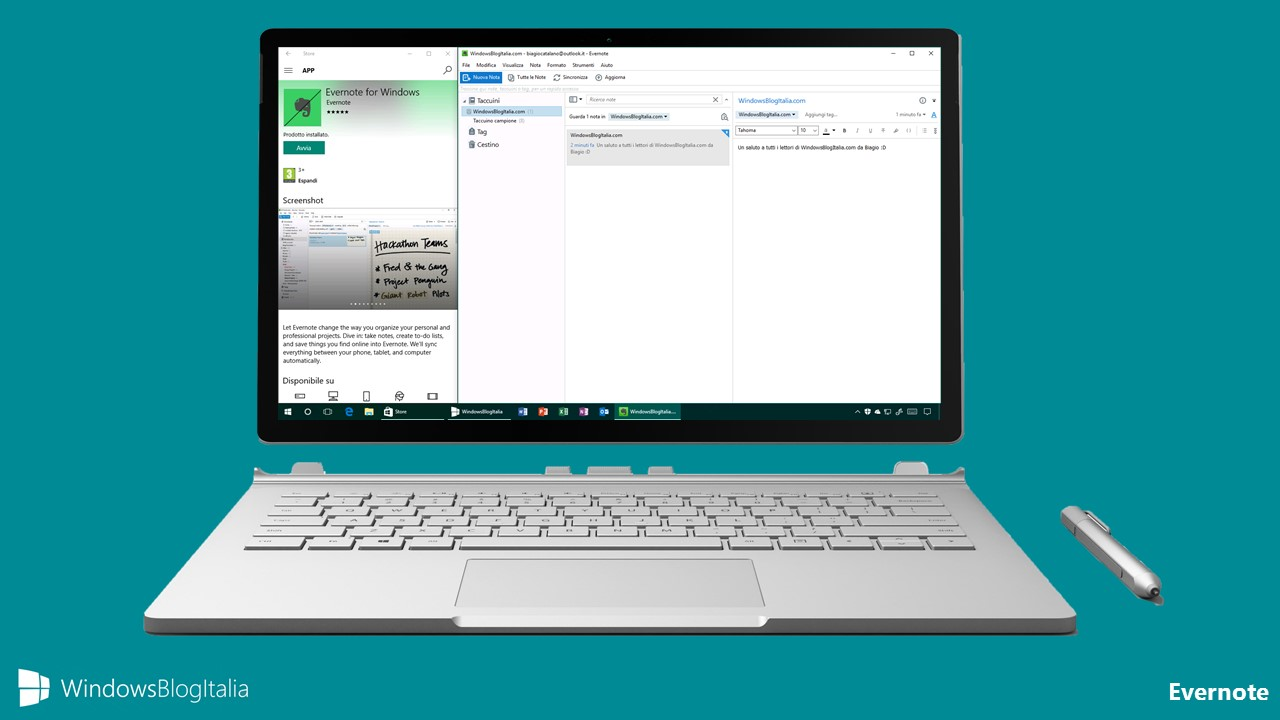 Nuova app Evernote - Windows