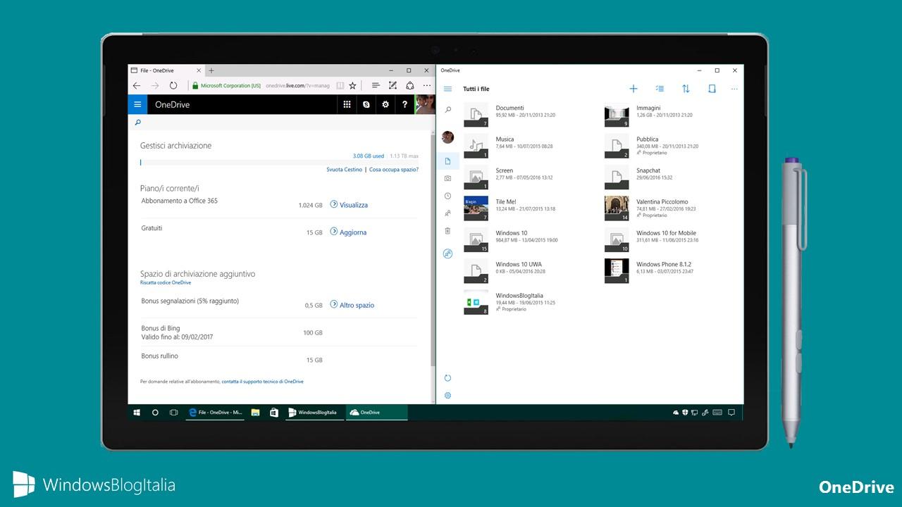 OneDrive - Riduzione spazio