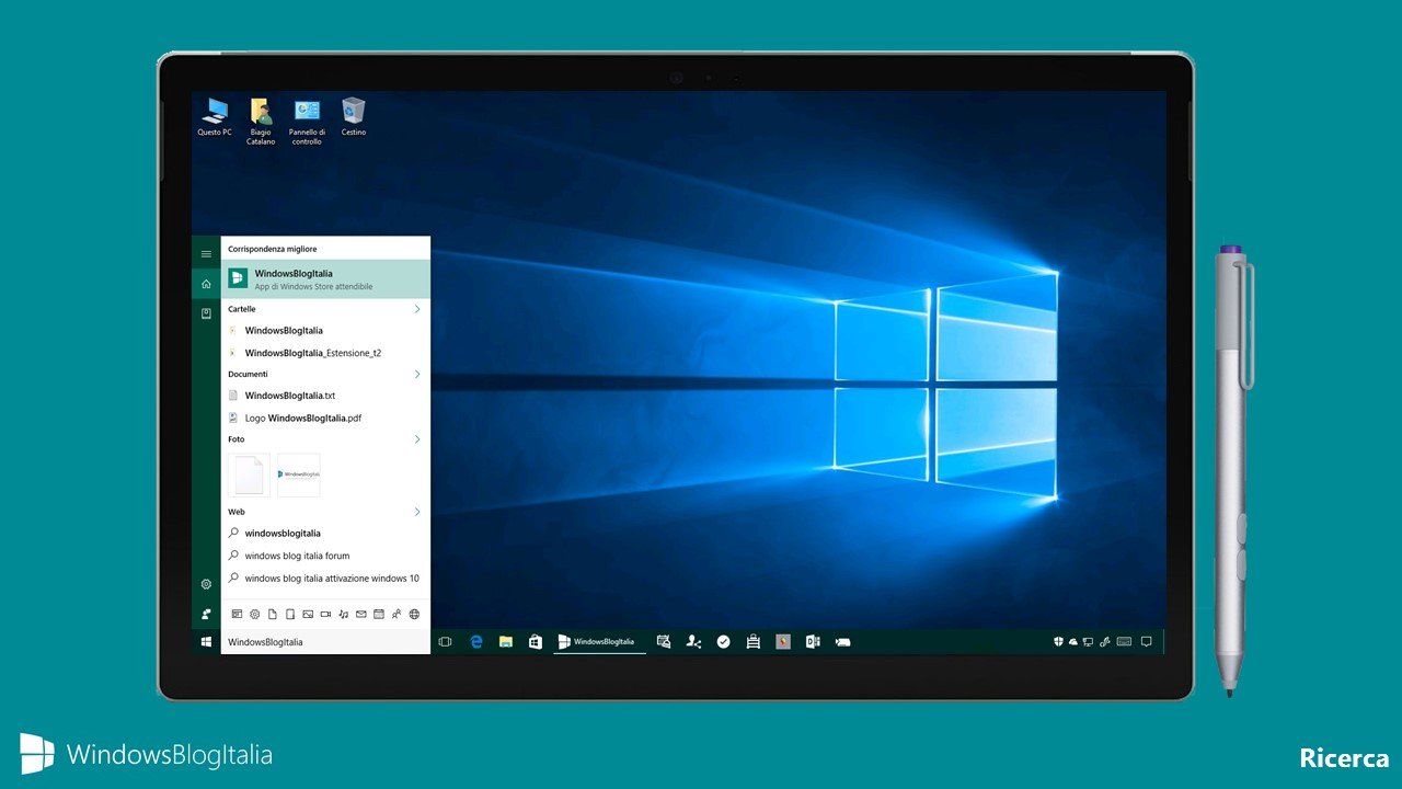 Ricerca - Windows 10