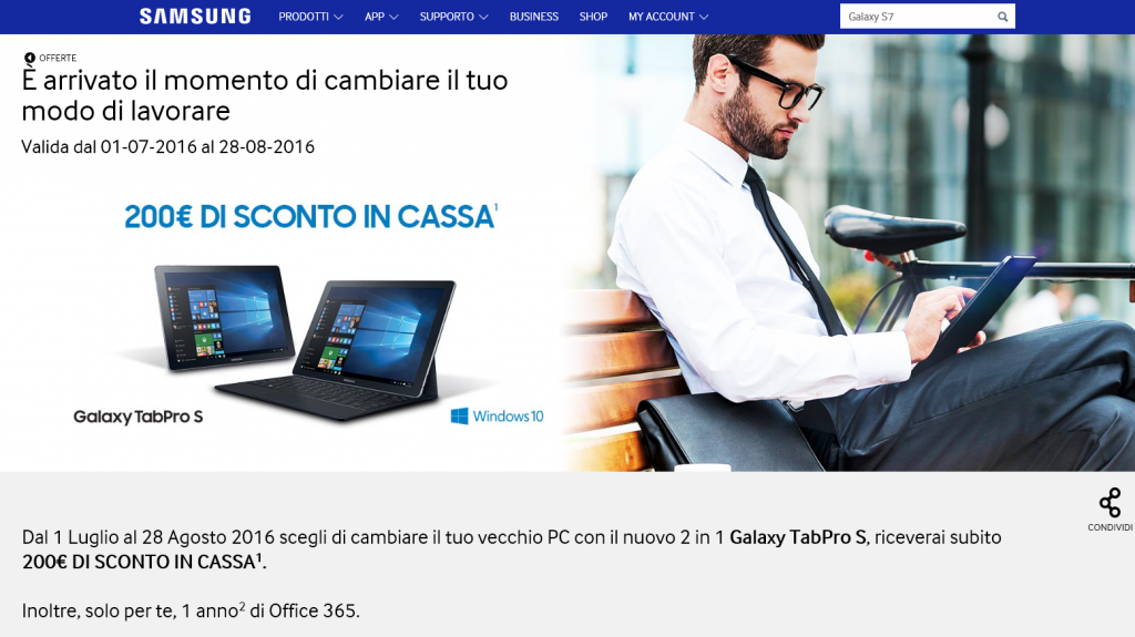 Samsung Galaxy TabPro S + Office 365