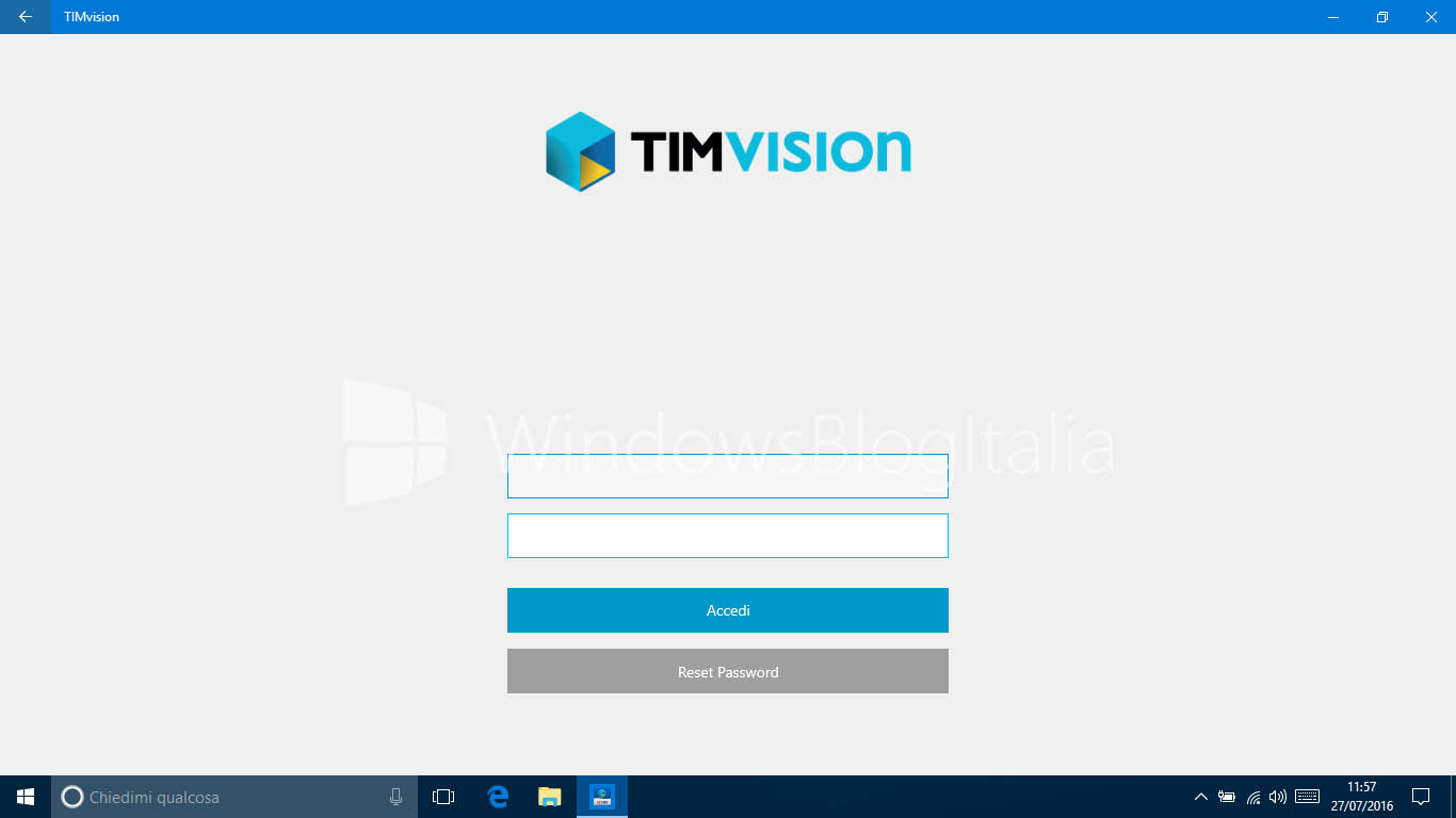 timvision per pc windows 7