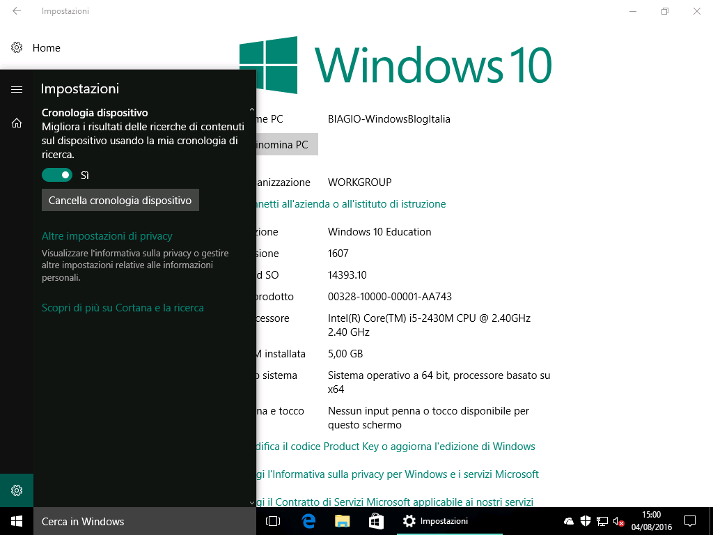 Windows 10 Education - NO Cortana