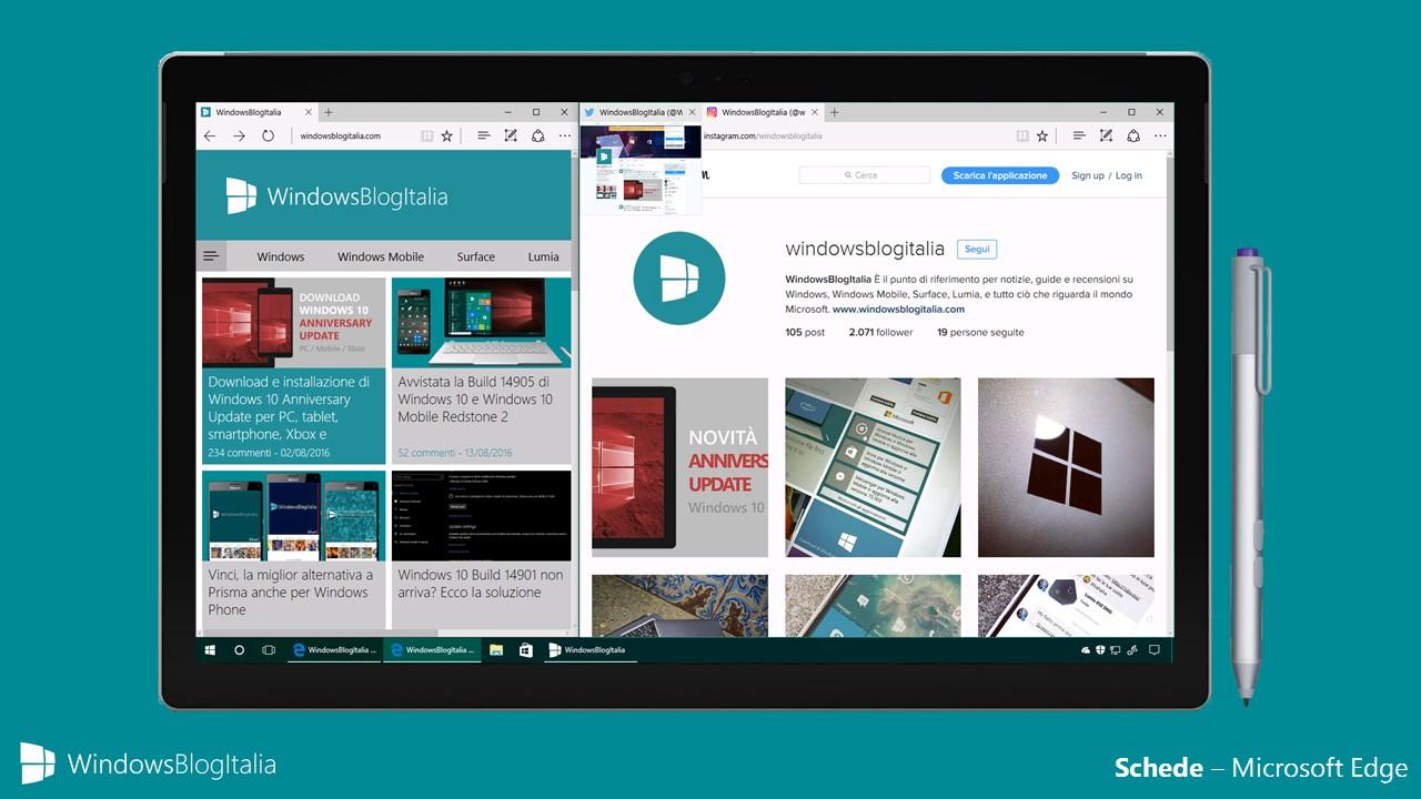 Come personalizzare le schede di Microsoft Edge