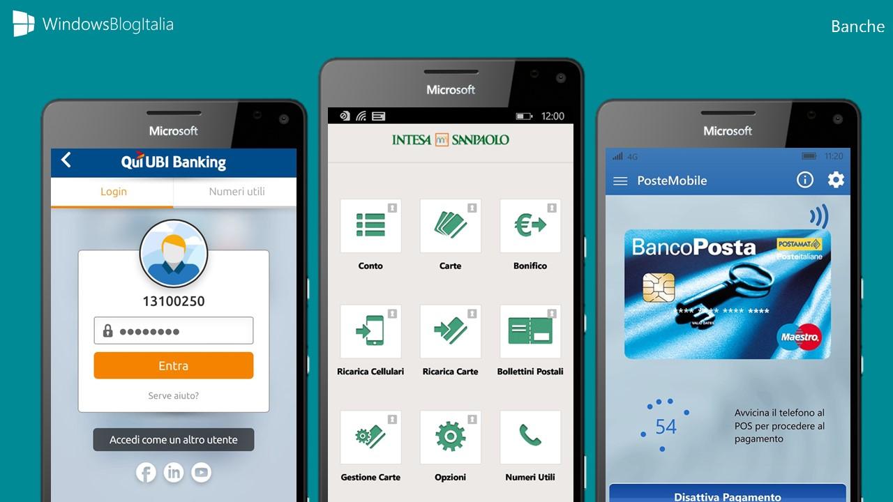 Le migliori app delle banche