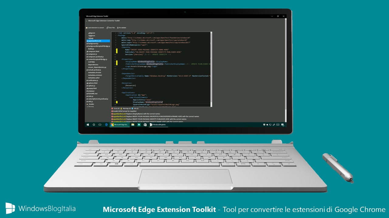 Microsoft Edge Extension Toolkit - Tool per convertire le estensioni di Google Chrome