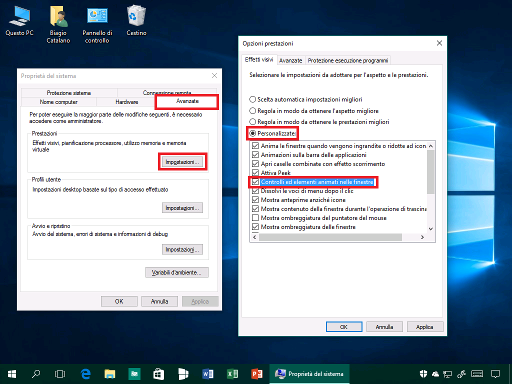 Prestazioni Windows 10