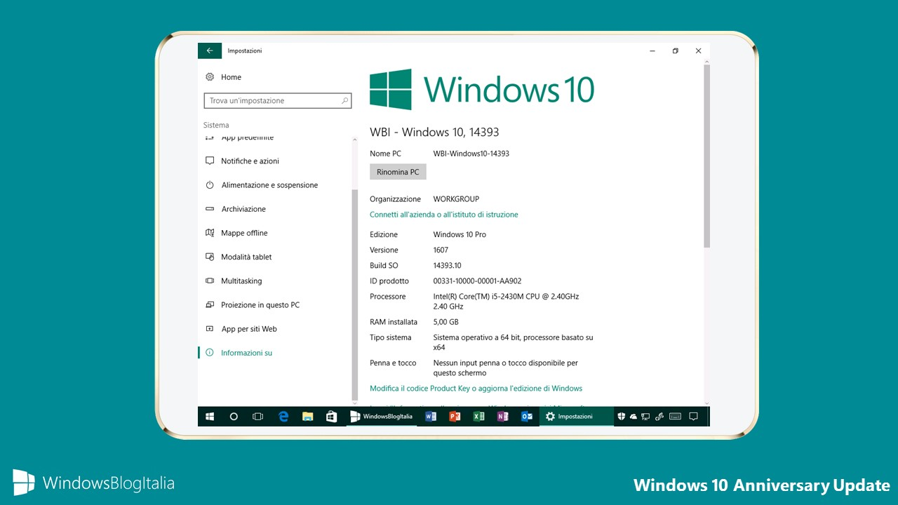 Problemi aggiornamento Windows 10 Anniversary Update