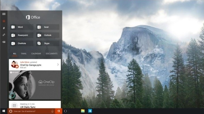 Windows 10 - Cortana e Office Hub