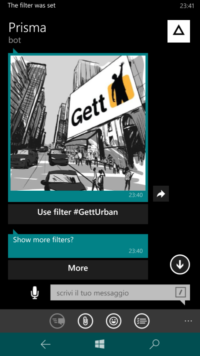 more e set filters prisma bot