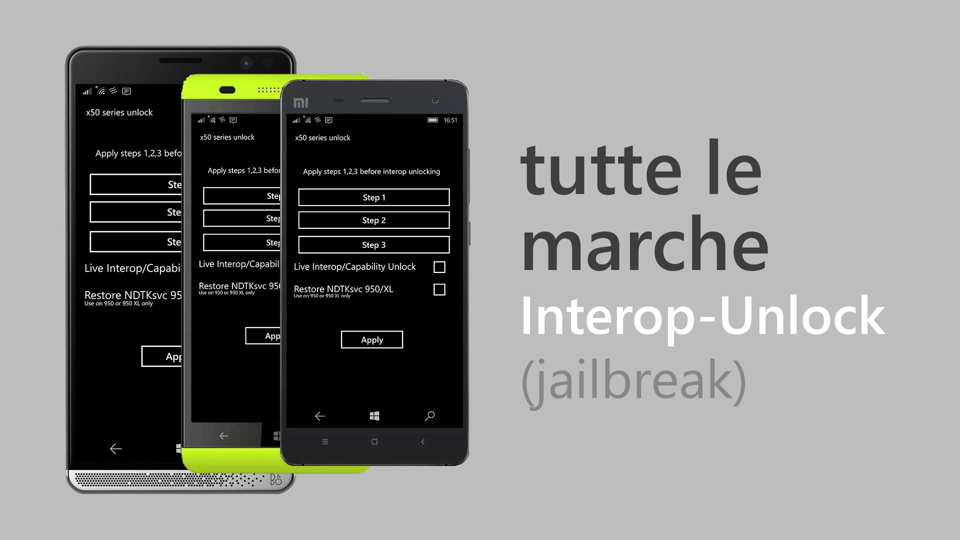 Interop-Unlock tutte le marche OEM